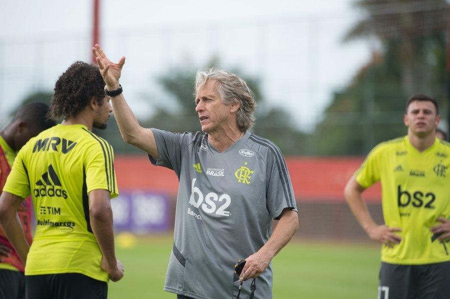 Jorge Jesus treinando no Flamengo