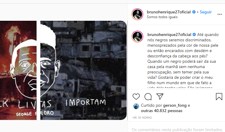 Instagram do Bruno Henrique